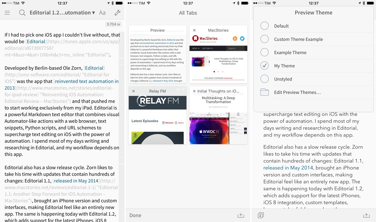 editorial 1 2 brings powerful new text editing features more ios
