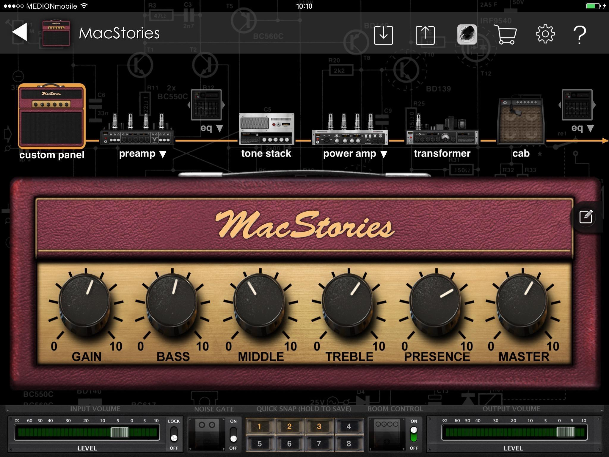 Making Music On Ios Guitar Amps Effects Apps Hardware Macstories Musical Circuits